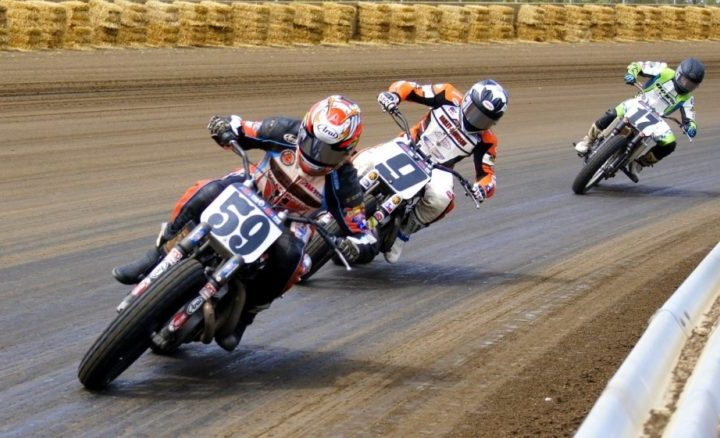 Pro Flat Track racing boasts left turns only, at 140 miles an hour
